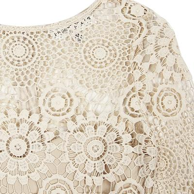 lace embroidery dress ivory